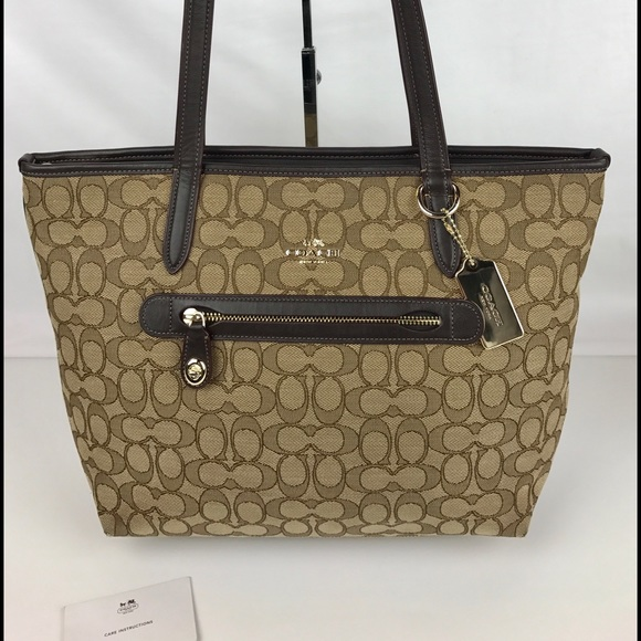1a82adc66d59 Coach Handbags - Coach Taylor Tote in Signature Jacquard