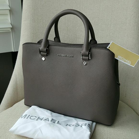 b061e1f14a6a Michael Kors Bags | Savannah Satchel Cinder Grey Bag Mk | Poshmark