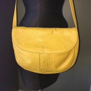 Toni  Handbags - ❗️Vintage 1970s Yellow Toni Leather Crossbody