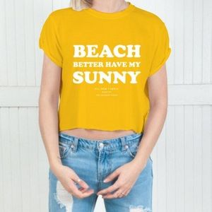 The Laundry Room Tops - My Sunny Crop Top