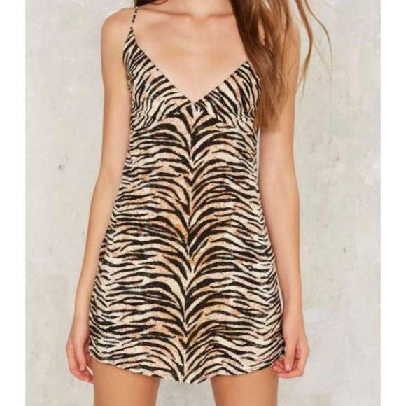 Motel Tiger Animal Print Slip Mini Dress 13a4d0096