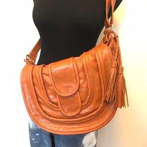 Vintage Handbags - Handmade 100% Leather Hobo Bag