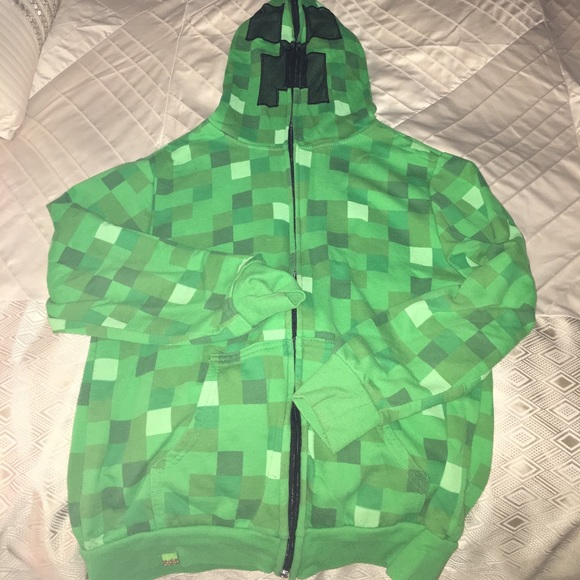62413408d5e Minecraft Hoodie- covers face. M 589386abbf6df59cd000144a