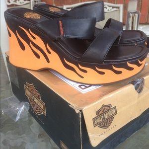 Harley-Davidson Shoes - Harley Davidson Sandals/slip ons. Size 8 Gorgeous