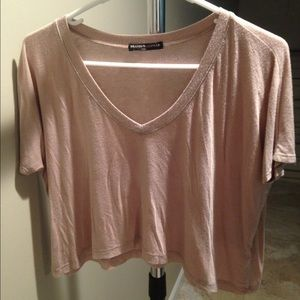 Brandy Melville Tops - Brandy Melville powder pink crop top
