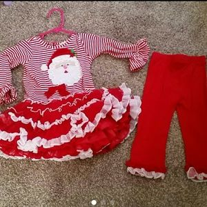 Rare Editions Christmas outfit 24 months