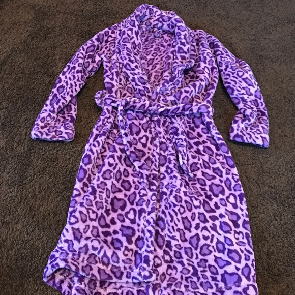 8ffad8dd9269 Intimates & Sleepwear | Kids Purple Leopard Print Robe | Poshmark
