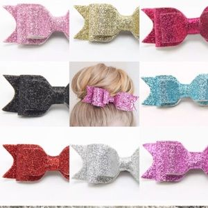 WILA Accessories - NWT Glitter Hair Bow- Black