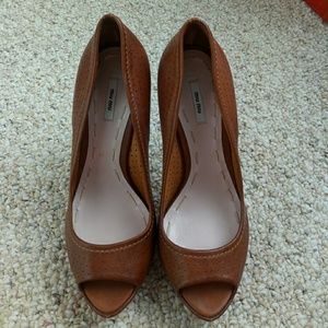 Miu Miu Shoes - Brand new- miu miu rich brown heels