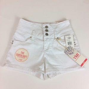 YMI Pants - White High Waist Shorts
