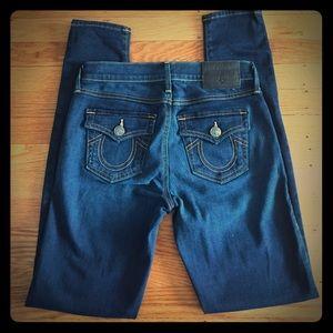  True Religion Halle Mid Rise Skinny 25 Jeans 