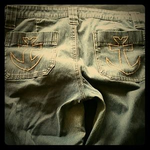 Tripp nyc Pants - Capri anchor jeans