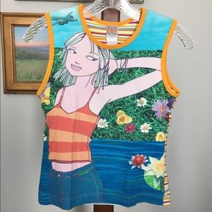 Oilily Tops - Oilily Photoprint Tank size S