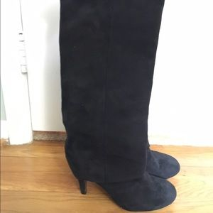 ASH black suede knee high boots