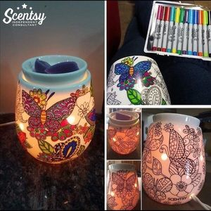 Scentsy Other - Reimagine Scentsy warmer 🖍you can color🖌