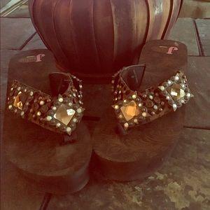 Justin Boots Shoes - 🌸JUSTIN BLING FLIP FLOPS🌸 $FIRM$UNLESS BUNDLED