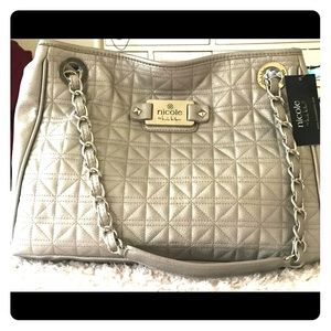 Nicole by Nicole Miller silver bag