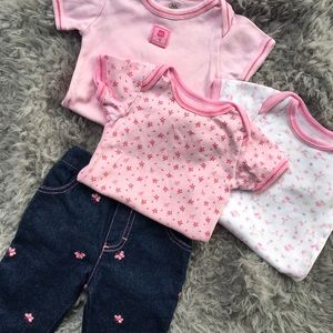 baby connections Other - Butterflies & Flowers Four Piece Set
