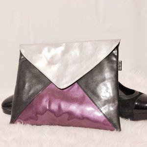Kenar Handbags - ✨ KENAR Tri Color Patent Cosmetic Bag