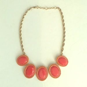 Banana Republic Orange Coral Statement Necklace
