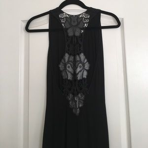 Lace back midi dress