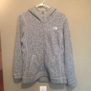 The North face Gray Full Zip Hoodie