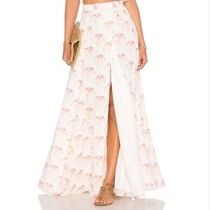 Lovers + Friends Dresses & Skirts - Lovers + Friends Shell Print Maxi Wrap Skirt