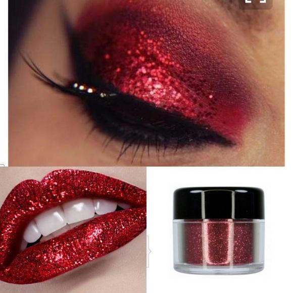 Makeup Three Lipeye Glitters Black Red And Silver Poshmark