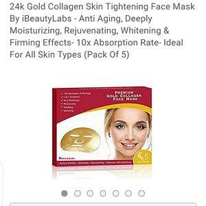 Other - 24K Gold Collagen Masks - 5 pack, BNWT