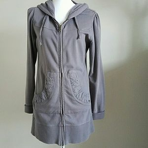 Jag Jeans Jackets & Blazers - Jag Long zip up Gray  Hoodie Size Small