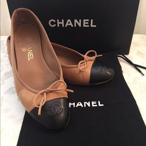 CHANEL Shoes - Chanel CC Classic Two Tones Flats