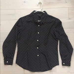 Tops - Vintage Navy Blue Blouse
