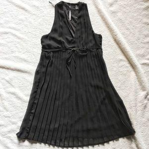 H&M pleated little black dress
