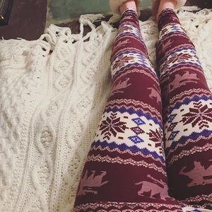 Winter Reindeer Leggings