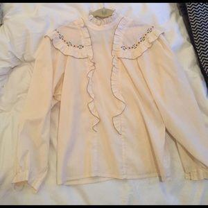 Authentic Original Vintage Style Tops - Vintage pink blouse shirt 👚