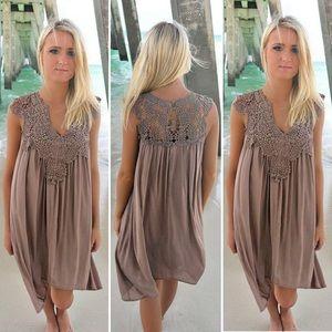 Dresses & Skirts - Summer Breeze Dress with Crocheted Neck Detail