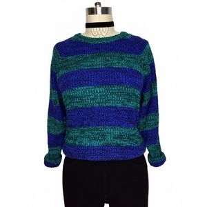 Vintage Sweaters - ADORABLE VINTAGE THICK STRIPE COMFY SWEATER!!!