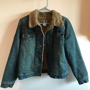 Urban Outfitters Jackets & Blazers - Furry Jean Jacket