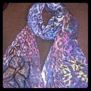 SPY Accessories - SPY shawl wrap multicolor animal print