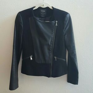 Zara jaket with faux leather details
