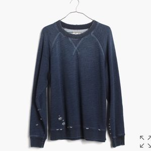 NWT Madewell Rivet & Thread Indigo Sweatshirt XS