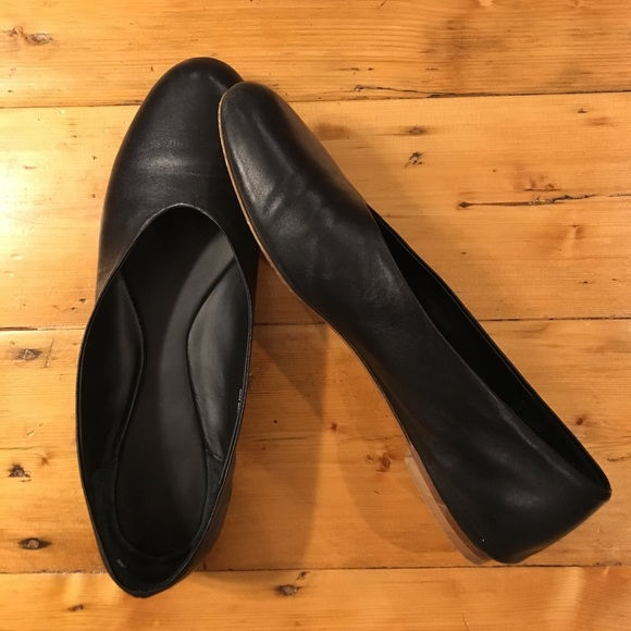 cos Shoes - COS black leather ballet flats