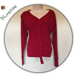 Ana Nonza red cardigan sweater size M