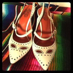 Santoni Shoes - Flash sale! Santoni Perforated MaryJane Slingback