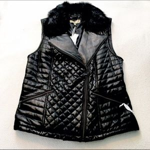 Talbots Jackets & Blazers - Talbots Genuine Leather Quilted Moto Vest