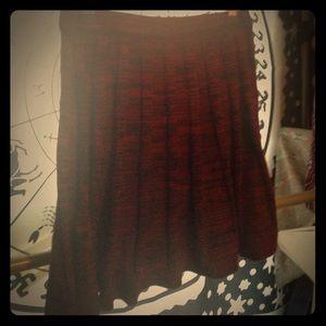 Red & Black Knit Skater Skirt - NWOT - Mini