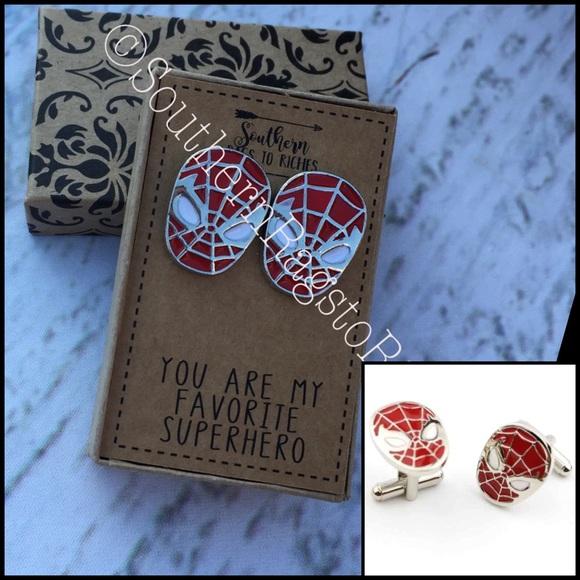 Spiderman Marvel Comics Fan Gift Cufflinks