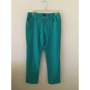 Soho Apparel Pants - Aqua Skinny Pants