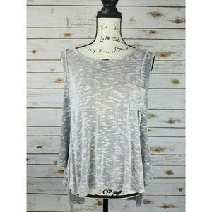 Anthropologie Paper Crane Tank High Low Heathered