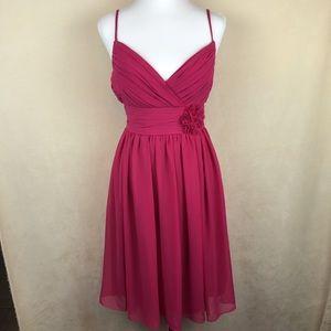 Monique Lhuillier Dresses & Skirts - Monique Lhuillier pink Chiffon knee length dress